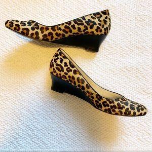 NINE WEST | Cheetah print wedge shoe size 6.5